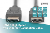 10m HDMI High Speed Cable, A M/M, Full HD 60p w/ethernet.