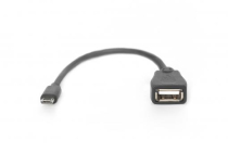 USB adapter cable, OTG, micro B – USB A type