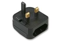 Fast Fit European to UK Converter Plug. Black (FCP)