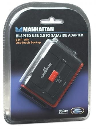 40 /& 44-Pin IDE 3-in-1 w// One-Touch Backup Hard Drive Adapter USB 2.0 to SATA