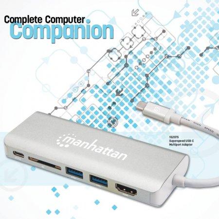 baf9087c27b USB-C Multiport Adapter HDMI (4K2K 30HZ) Female, Two USB 3.0 Type-A ...